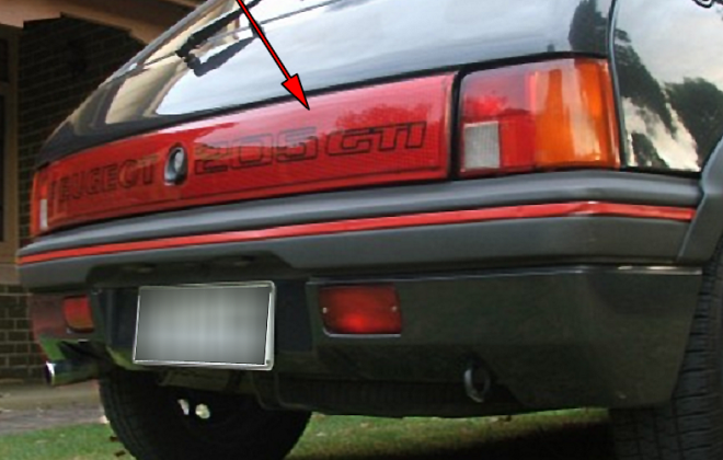 Phase 1 205 GTI optional reflective tail light panel Peugeot.png