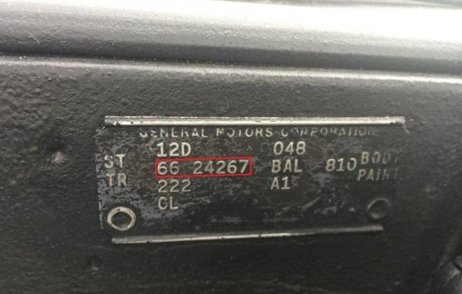 Pontiac GTO 1966 data plate.jpg