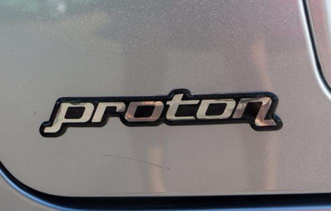 Proton GTi rear hatch badge Proton Satria.png