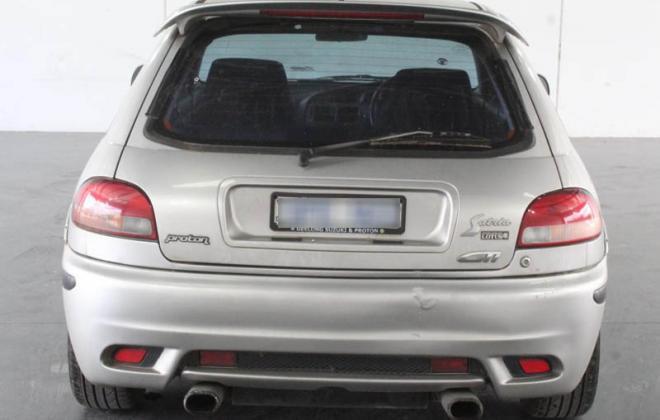 Proton Satria GTi Australia silver images 2003 model hatch rear image (5).jpg
