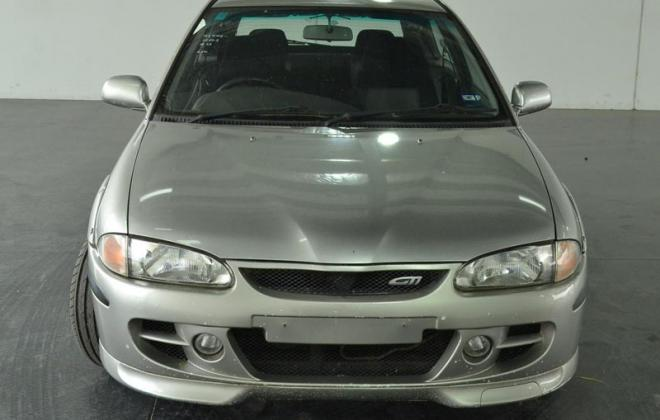 Proton Satria GTi silver 2003 hatch Australia melbourne front bumper.jpg