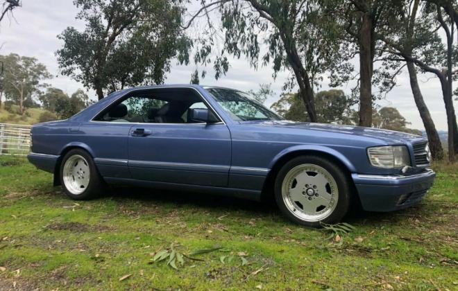 Purple blue colour 1989 Mercedes 560SEC images black leather trim (1).jpg