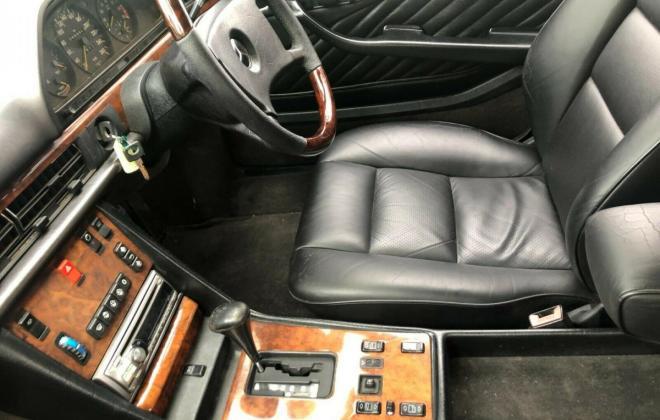 Purple blue colour 1989 Mercedes 560SEC images black leather trim (10).jpg