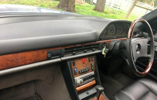 Purple blue colour 1989 Mercedes 560SEC images black leather trim (12).jpg