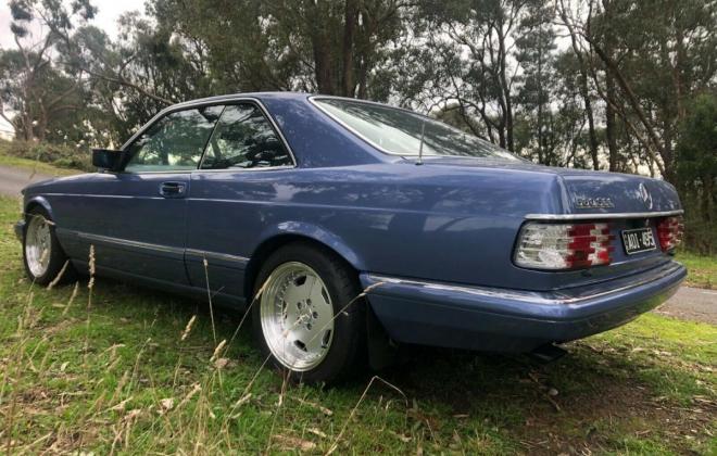 Purple blue colour 1989 Mercedes 560SEC images black leather trim (2).jpg
