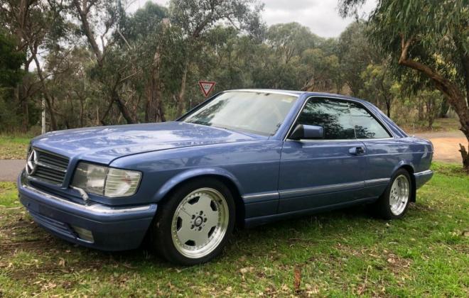 Purple blue colour 1989 Mercedes 560SEC images black leather trim (3).jpg
