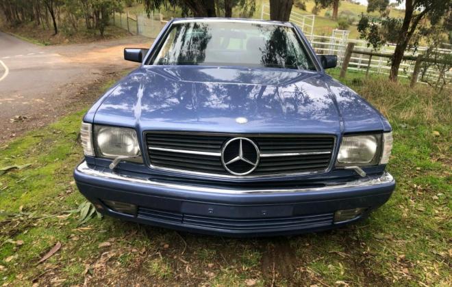 Purple blue colour 1989 Mercedes 560SEC images black leather trim (4).jpg