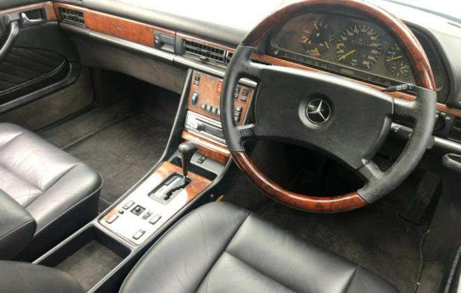 Purple blue colour 1989 Mercedes 560SEC images black leather trim (7).jpg