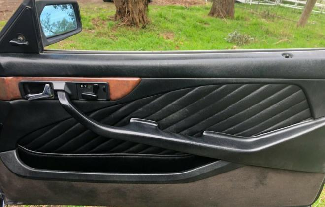 Purple blue colour 1989 Mercedes 560SEC images black leather trim (9).jpg