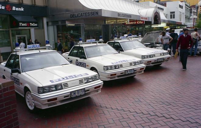 R31 Skyline Silhouette GTS Australian Tasmanian police car GTS1 SVD 1988 (3).jpg