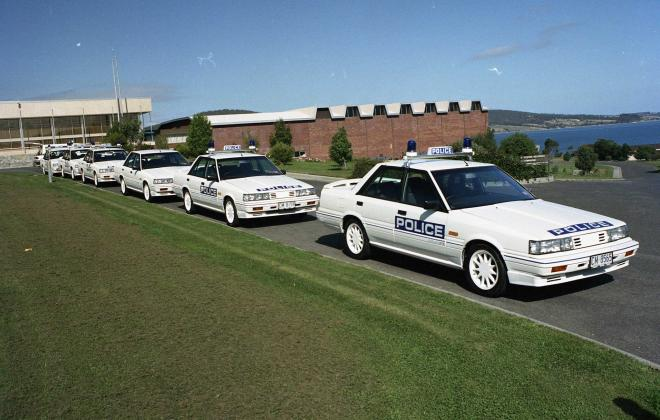 R31 Skyline Silhouette GTS Australian Tasmanian police car GTS1 SVD 1988 (4).jpg