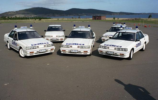 R31 Skyline Silhouette GTS Australian Tasmanian police car GTS1 SVD 1988 (8).jpg