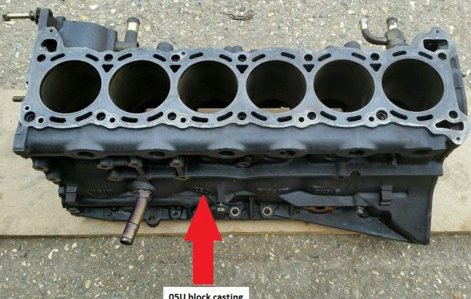 RB26DETT engine block 05U stamping.JPG