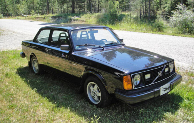 Rare Canadian black Volvo 242 GT image.png