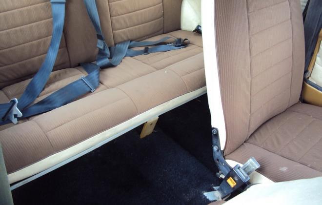 Rear seat and carpet - Leyland Mini 1275LS Nugget Gold.jpg
