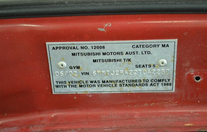 Red Ralliart Mitsubishi Magna 2002 build number unknown images (10).jpg