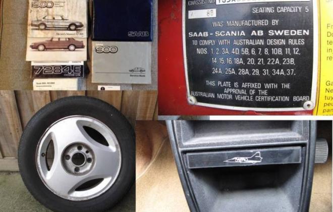 Saab 900 Aero Turbo S Red paint Australia Combi Coupe 1988 (9).JPG