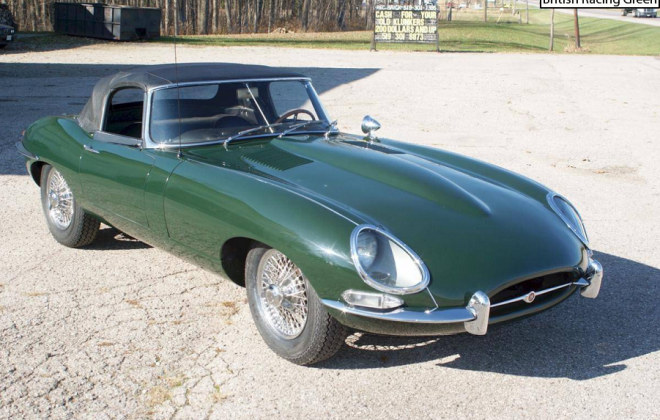 Series 1 E-Type Jaguar XKE British Racing Green (BRG) paint.png