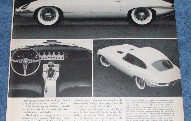 Series 1 Jaguar E-Type XK-E brochure advertisement original promotion material  (9).jpg