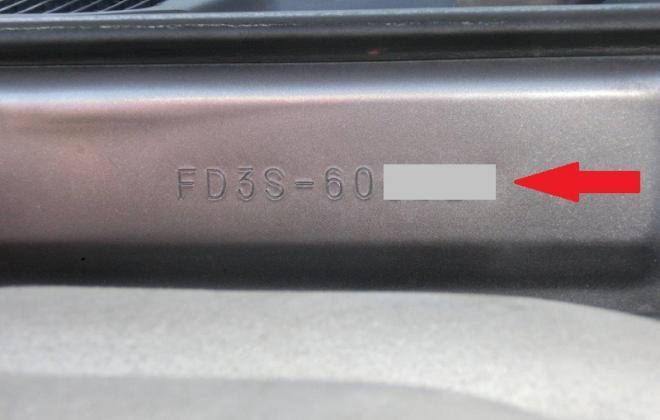 Series 6 Mazda FD RX7 Spirit R Chassis number stamping firewall bulkhead.JPG