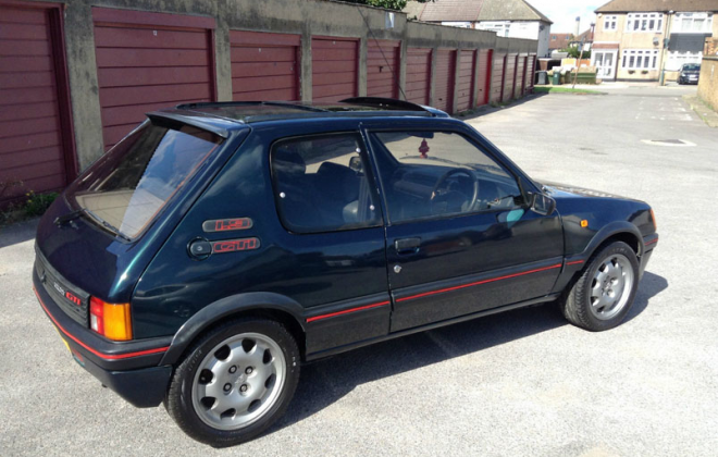 Sorrento Green 205 GTI with sunroof 1990 copy.png
