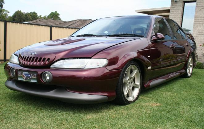 Sparkling Burgundy Metallic Ford Falcon EL GT number 212 of 250 1997 (1).jpg