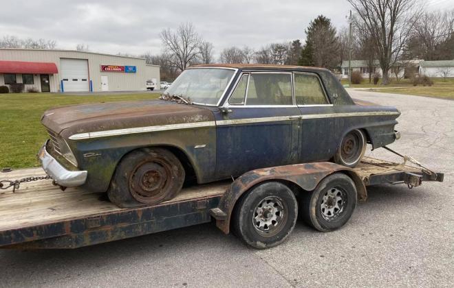 Strato Blue 1964 Studebaker Daytona hardtop coupe 2 door unrestored images (1).jpg