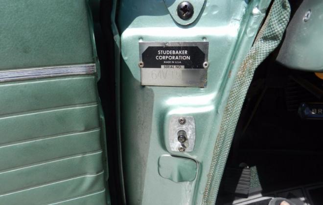 Studebaker Daytona VIN number plate location door jamb image.png
