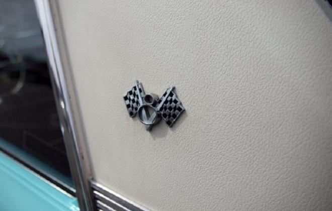 Studebaker V8 emblem on C pillar vinyl roof 65 Sports sedan.JPG