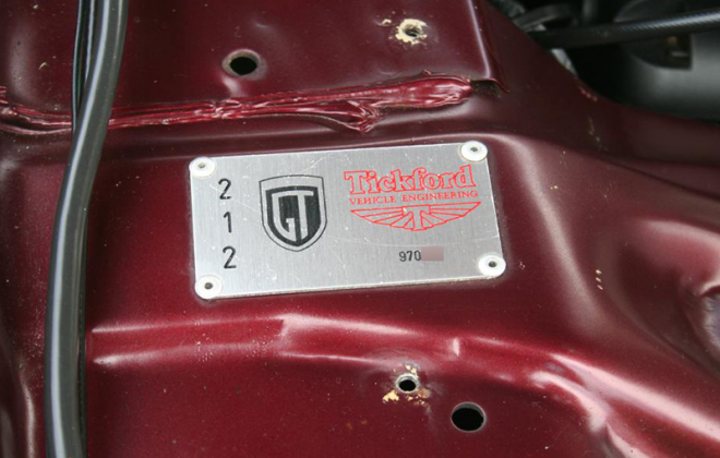 TVE build plate numbertickford Sparkling Burgundy Metallic Ford Falcon EL GT number 212 of 250 1997 (2).png