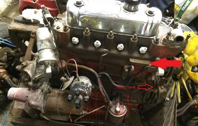 Timing teeth on crank and engine number location 1275LS.JPG