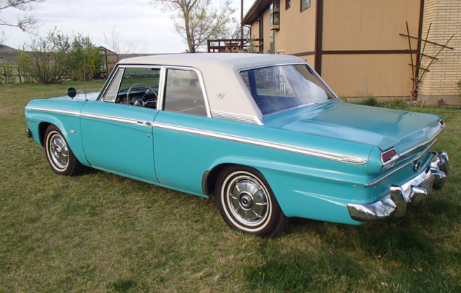 Turquoise 1965 Studebaker Daytona Sports sedan 2 door information  (2).png