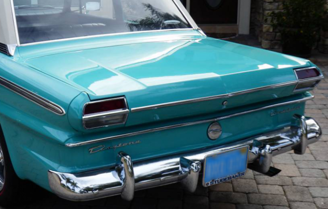 Turquoise 1965 Studebaker Daytona Sports sedan 2 door information  (4).png