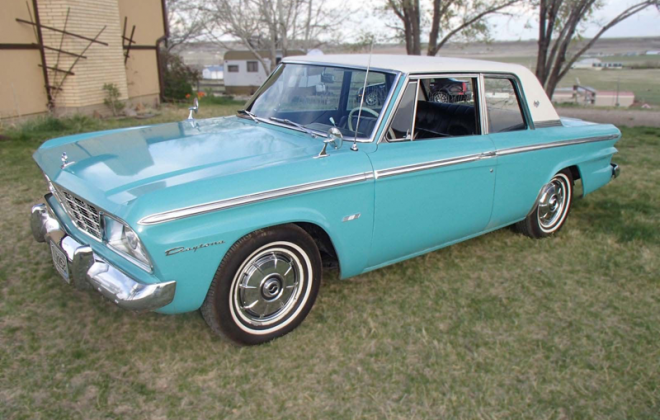 Turquoise 1965 Studebaker Daytona Sports sedan 2 door information  (5).png