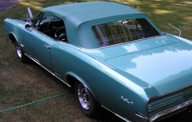 Turquoise Convertible Top 1966 Pontiac GTO.jpg
