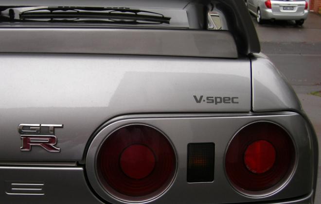 V-Spec I rear end R32 GTR v spec badge.png