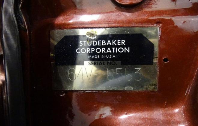 VIN plate 1964 Studebaker Daytona Convertible Red on classic register (8).jpg
