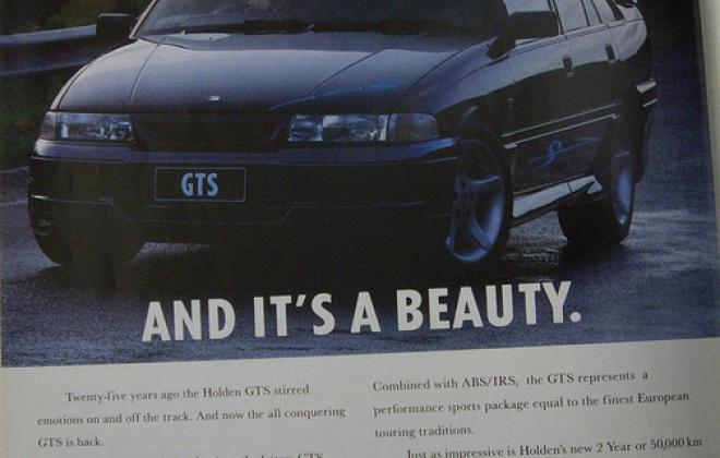 VP HSV GTS magazine advertisement image 1992.jpg