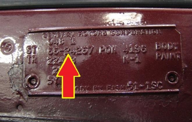 Vehicle data plate 1966 Pontiac GTO.jpg