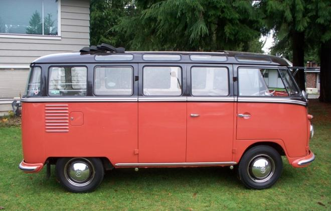 Volkswagen Deluxe Microbus Samba 1955 - 1958 chesnut brown over sealing wax red (5).jpg