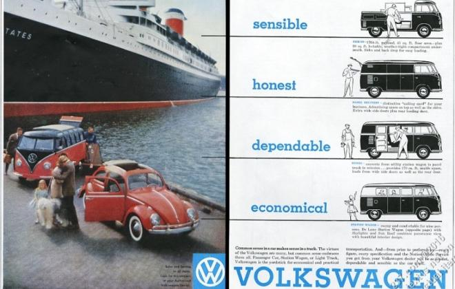 Volkswagen Deluxe Microbus Samba Bus original brochure advertisement 1955 - 1958 (1).jpg