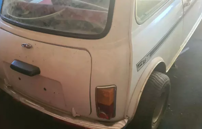 White 1980 Leyland Mini GTS South Africa barn find 2021 (2).png