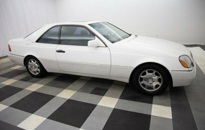 White 1995 S600 coupe Mercedes C140 W140 (3).jpg