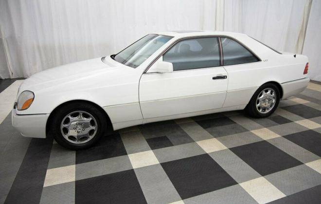 White 1995 S600 coupe Mercedes C140 W140 (4).jpg