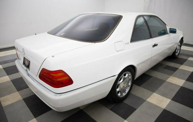 White 1995 S600 coupe Mercedes C140 W140 (7).jpg
