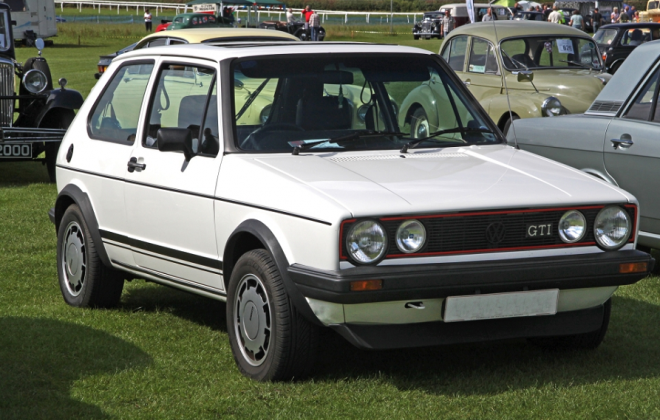 White MK1 Golf GTI Campaign Edition front UK VW.png