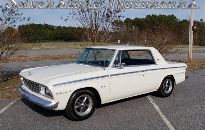 White with blue interior Studebaker Daytona Hardtop half vinyl trim (1).jpg