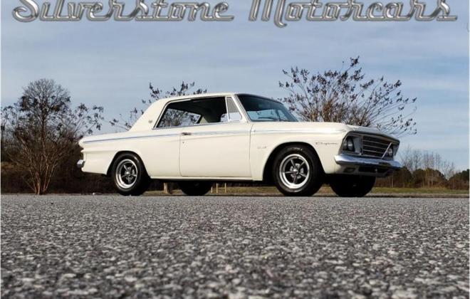 White with blue interior Studebaker Daytona Hardtop half vinyl trim (10).jpg
