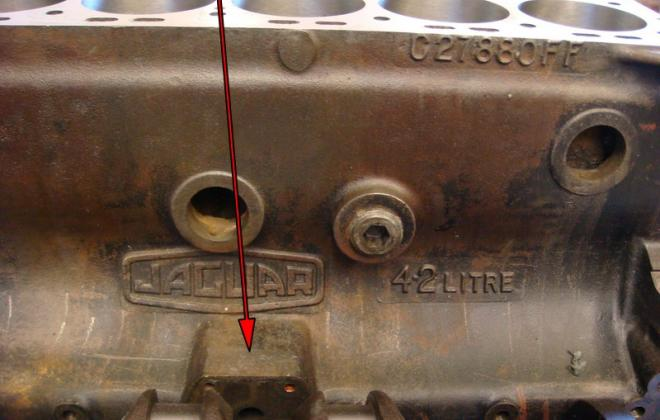 XKE Series 1.5 engine number on side of block 1968.png