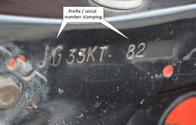 XW Falcon GT Close up of radiator panel serial stamping.png